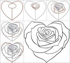 trendy pics of roses to draw easy rose drawing flowers coloring
