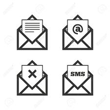 supprimer icone bureau icônes d enveloppe symboles de message du document déposer signes