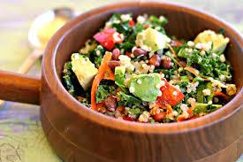 kale quinoa black bean salad dishin u0026 dishes