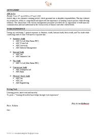 free download resume sample for ca fresher with cover letter 3