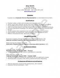 example cover letter customer service representative resumes for customer service representative call center virtren com
