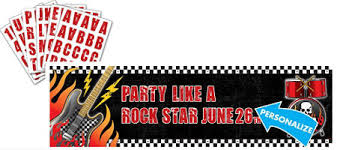 Rock And Roll Party Decorations Rock On Party Supplies Punk Rock Theme Party Party City