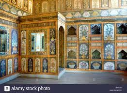 the dining room of ahmet iii in topkapi palace at istanbul stock