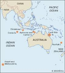 territories of australia map australian external territories students britannica