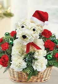 dog flower arrangement a dog able santa paws flower arrangement from 1 800 flowers
