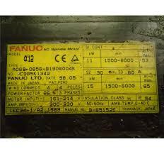 fanuc ac spindle motor m n a12 spec a06b 0856 b190 004k