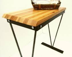 bar height work table butcher block desk etsy