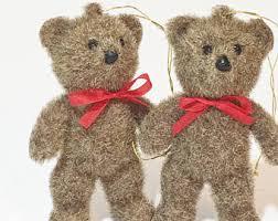 Teddy Bear Christmas Tree Ornaments by Bear Ornament Etsy