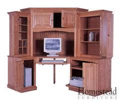 Corner Computer Desk Furniture Stylish Corner Computer Desk Furniture Custom Built Hardwood