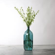 Blue Bottle Vase Geometric Glass Bottle Magnolia Market Chip U0026 Joanna Gaines