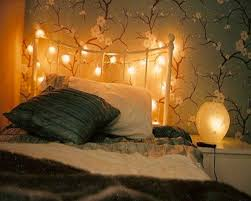 bedroom with fabric tent and fairy lights pretty interalle com