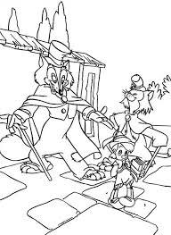 honest gideon john deceive pinocchio coloring