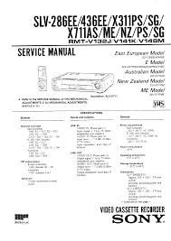 sony slv436ee service manual immediate download