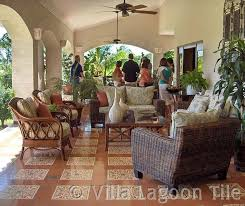 Outside Tile For Patio Caribbean Cement Tile Floor Installations Villa Lagoon Tile