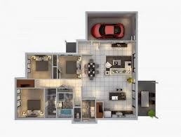this is minimalist 3 bedroom home design layout with car garage