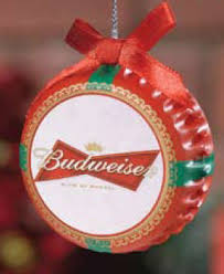 budweiser bottle cap with bow ornament item 244006