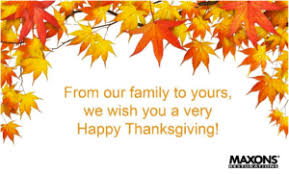 a safe happy thanksgiving