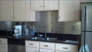 Kitchen  Self Adhesive Backsplash Tiles Peel And Stick Vinyl Tile - Stainless steel backsplash lowes