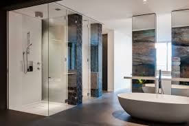 charming designer bathrooms presenting cool shower room with clear