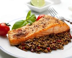cuisiner pavé de saumon poele recette pavé de saumon aux lentilles