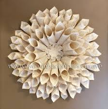 Paper Crafts For Home Decor Bookpage Wallflower 3 Dimensional Eco Friendly Recycled Wall Art