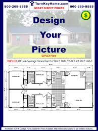 Duplex House Plans For Narrow Lots by Modular Homes Duplex Plans Priced