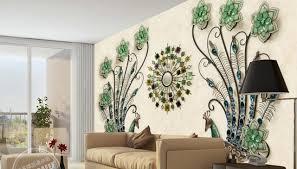 cuisine papier peint creative mur papier mural 3d vert paon papier peint pour salon
