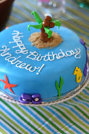 Ocean Cake Decorations Andrew U0027s First Birthday Party Everyday Annie