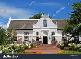 colonial farmhouse farmhouse colonial style terracesouth africa stock photo 76865602