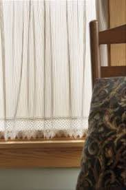 Lace Trim Curtains Chelsea Pinstripe Heritage Lace Curtain With Lace Trim