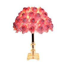 Beautiful Lamps Outstanding Household Modern Table Lamp With Rose Shade Crystal