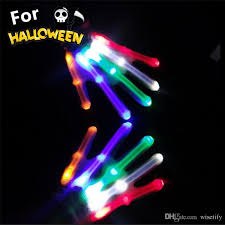 Light Halloween Costumes Wisetify Halloween Costumes Led Lighting Gloves Flashing Cosplay