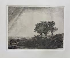 rembrandt the three trees etching by amand durand forgotten