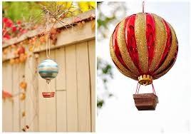 sparkling and colorful diy air balloons ornaments