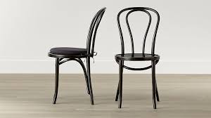 Wood And Metal Dining Chairs Vienna Black Wood Dining Chair And Cushion Crate And Barrel