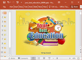 animated best education powerpoint template