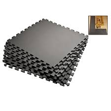 amazon com grey 72 sqft anti fatigue exercise mats foam gym floor