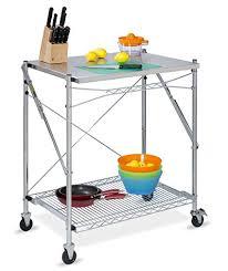 honey can do folding table amazon com honey can do tbl 01566 stainless steel folding urban