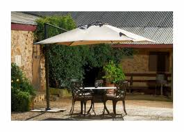 furniture cream cantilever umbrella with dining table for