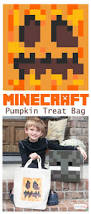 diy pumpkin treat bag u0026 minecraft halloween costume ideas atta