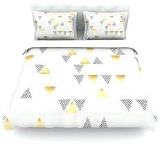 triangle bedding gray and yellow duvet cover idearama co