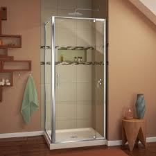 36 Shower Doors Dreamline Flex 36 W X 74 75 H X 36 D Pivot Shower Enclosure