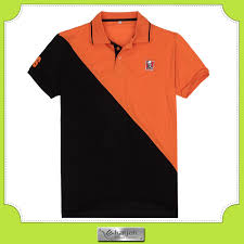 custom design two color combination embroidered cotton polo t