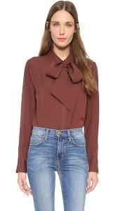 bow tie blouse frame le bow tie shirt shopbop