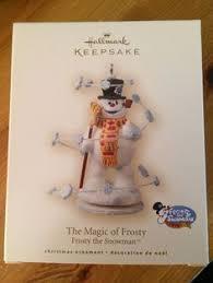 2 hallmark frosty snowman holiday ornament reinigen