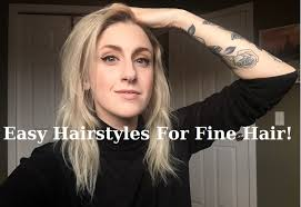 hair updo for women with very thin hair easy hairstyles for fine hair hairstyles inspiration