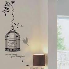 aliexpress com buy removable black birdcage bird wall stickers