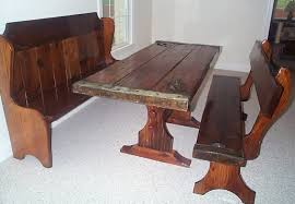 Kitchen Table Sets With Bench Kitchen Small Round Table And - Tables with benches for kitchens