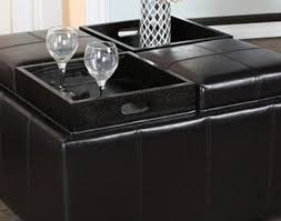 Upholstered Ottoman Coffee Table Furniture Vintage Trunk Coffee Table Stunning Black Leather