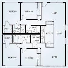 square floor plans 614 sycamore four bedroom unit 2 1 620 square